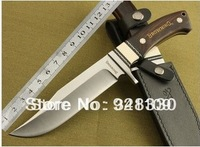 Browning Knife Full Tang Ebony Wood Bowie Knives Hunting Knife H18 Tactical Knife With Wood Handle HK Free Shipping