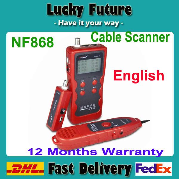 Сетевой инструмент NOYAFA LCD RJ45/RJ11/BNC/USB nf/868 NF868 обжимной инструмент rj 45 в алматы