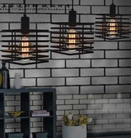 Loft american lighting light bulb vintage personality lamp pendant light including ST64 Edison bulb