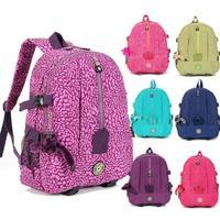 2014 new women printing backpacks ; girl school bags ,waterproof women zipper backpack , nylon mochilas with monkey