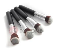 2014 Super Soft 4pcs 4 pcs Kabuki Brushes Black Makeup Brushes Tools Sets & Kits Cosmetic Brush For Face Makeup Acceorries