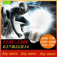 15w 12w 10w 7w 5w 3w,Quality Assurance LED Bubble Ball Lamps lights Bulb,110V,120V,E27 B22 E14, Cold/Warm White,Spotlight Lamps