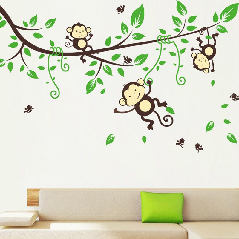 Little Monkey Murals Cartoon Cute Little Monkey