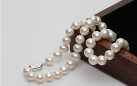 Natural freshwater pearl necklace jewelry, 8 -- 9 mm