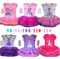 free shipping cartoon dress beautiful girls one-pieces hot sale children dress pretty girls clothes TT006