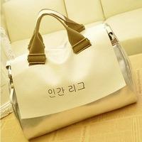 2014 new magazine handbag Fashionable handbags silver minimalist shoulder bag big bag diagonal package