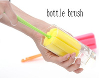 2PCS/LOT Simple durable glass bottle brush brush brush cleaning sponge cup The kitchen cleaning brush Kitchen Furniture