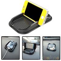 Black Car Dashboard Sticky Pad Mat Anti Non Slip Gadget Mobile Phone GPS Holder Interior Items Accessories 02UC