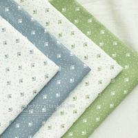 48CMx50CM 4pcs/lot blue green Fat Quarters Cotton Fabric Patchwork Tilda Scrapbooking Fabric for Sewing cotton cloth