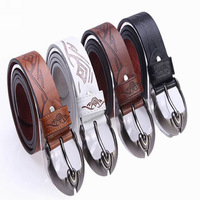2014 new belts for men casual men's belt leather straps buckle personality business GLB-026