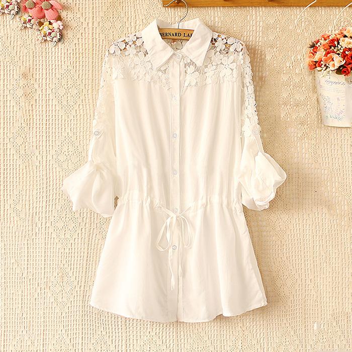 Roupas de maternidade maternidade verão tops branco plus size camisa de maternidade solta 100% camisa de maternidade de algodão(China (Mainland))