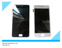 5pcs/lot For Samsung i9100 Galaxy S2 LCD with Touch Screen Digitizer Assembly black and white colour free shipping by DHL EMS