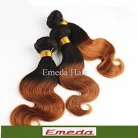 "Top sell Fashion queen hair 1b/30 18 20 22"" Queen Hair Ombre  Peruvian Virgin Body Wave 2Tone Ombre Hair Extensions Human Hair"