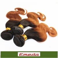 "Top sell Fashion queen hair 1b/30 18 20 22"" Queen Hair Ombre  Brazilian Virgin Human Hair Body Wave 2Tone Ombre Hair Extensions"