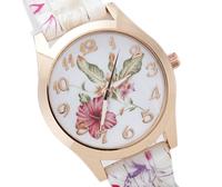 2014 New Arrival Silicone Jelly Women Watch, Winter Is The Most Beautiful Flowers Pattern Strap, Women's Dream Quartz Watch