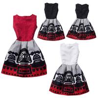 2014 New Style European Women's Empaistic O-Neck Print Sleeveless Dress Princess Bubble Dress 2X E2737