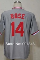 Cincinnati #14 Pete Rose Jersey,Throwback Baseball Jersey,Best quality,Embroidery logos,Authentic Jersey,Size M--3XL, Mix Order