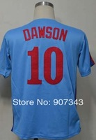 #10 Andre Dawson Jersey,Throwback Baseball Jersey,Best quality,Embroidery logos,Authentic Jersey,Size M--3XL,Can Mix Order