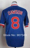 Chicago #8 Andre Dawson Jersey,Throwback Baseball Jersey,Best quality,Embroidery logo,Authentic Jersey,Size M--3XL,Can Mix Order