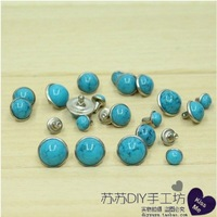 Free Shipping! Rivet turquoise blue 10.55mm diy accessories bags shoes clothing accessories rivets America Birthstone 20pcs/lot
