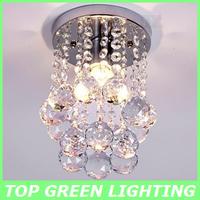 New Modern Crystal Ceiling Mount Light 15cm Diameter Crystal Dining Room Ceiling Mounted Lampara Porch Light Bedroom Lamp