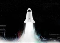 2014 creative LED nightlight, Rocket USB touch LED lamp ,Two in one flashlight + lamp , USB led nightlight