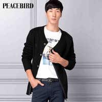 Peacebird men's clothing of new long men's fashion casual cardigan sweater HH31243114