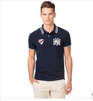 TOMY New 2014 Brand Man Slim Fit Shirts For Men Brand Lapel T Shirt 100% Cotton NY Polo ShirtA5
