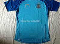 2014 world cup Spain goalie  jerseys #1 I.CASILLAS  fan versions embroided logo, top quality