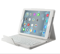 Free Shipping Flip Mute Removeable Wireless Bluetooth ABS Keyboard Stand Leather Cases For Apple ipad mini 1/2 ipad 2 3 4 5 Air