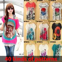 40 Kinds Of Patterns print dresses 2015 summer atacado roupas femininas plus size loose vestido estampado casual dress women 365