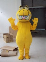 2014 New Garfield Cat Mascot Costume Fancy Dress Suit