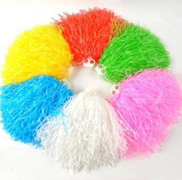 Free Shipping, 10pcs/lot Cheerleading Lalla Ball Pom Poms Cheerleaders Props Pompom Drop Shipping, HP0009(China (Mainland))