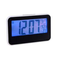 blue Light Alarm table Clocks LED Display Voice Sound controlled Digital Alarm Clocks With Calendar & Temperature 95516