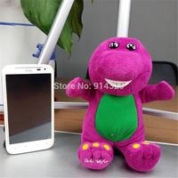 Cute Barney the Dinosaur Plush Stuffed Toy 18CM TV Cartoon Soft Dolls Children Baby Kids Birthday Gift Retail 1pc Free Shipping