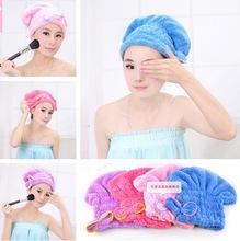 1323 Cartoon rabbit magic dry hair cap shower cap super absorbent microfiber towel dry hair Big sale(China (Mainland))
