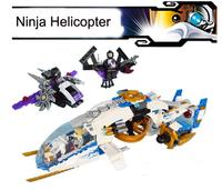 Bela Building Blocks Ninjago Ninja Helicopter Construction Sets Educational Bricks Toys for Children Lego Compatible
