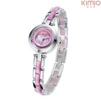 2014 New women dress fashion watch quartz wristwatch casual watches genuine leather bracelet Kimio watches 1ATM waterproofed