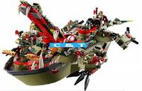 Bela Building Blocks Ninjago Ninja Cragger's Command Ship Construction Sets Educational Bricks Toys for Children Lego Compatible