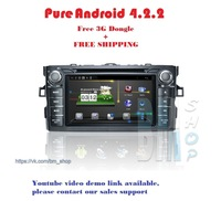 Car DVD TWIN  for Toyota Prius ( left and right steer) Year2013 Pure Android 4.2.2  system