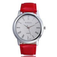 Relojes free shipping 2014 roman number quartz analog pu leather straps watch women dress watches brand name ladies wristwatch