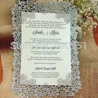 2014 complex rose design silver color invitation card
