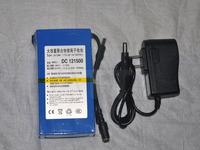 free shipping 12V 15000mAh Rechargeable Li-ion Lithium Battery super Rechargeable Li-ion Battery+1A charger