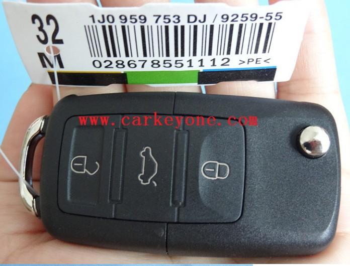 VW Volkswagen Passat Polo Golf Touran Bora SEAT Ibiza Leon SKODA Octavia Fabia 3 Buttons Remote Key shell Case Free Shipping(China (Mainland))