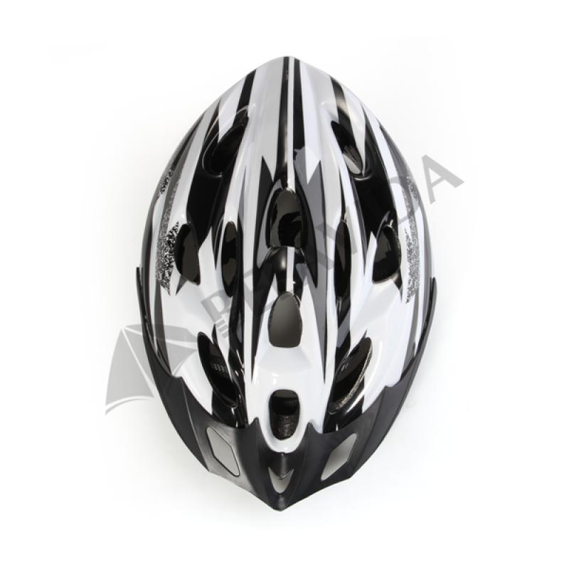 White Black Mountain Road Bicycle Bike Cycling Safety Unisex Helmet + Visor L(China (Mainland))