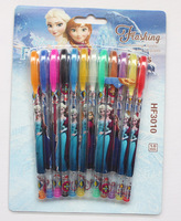 Free shipping Frozen 10 set 120pcs Frozen Highlighter for office home and school Cartoon ( 1 set 12 Color)