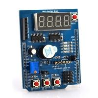 4 Road LED indicators 4 Digital Tubes Infrared Bluetooth Temperature Sensor Interface Multi-function Shield For Arduino