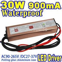 10 Series 3 Parallel 30W IP67 Waterproof LED COB Floodlight Spotlight Bulb Lamp Driver Power Supply 900MA Light Transformers(China (Mainland))