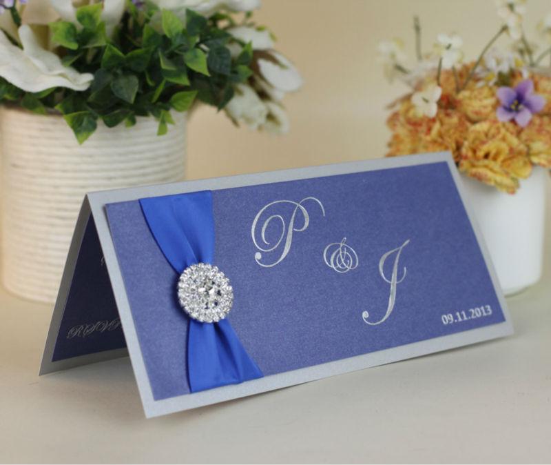 Royal Blue Wedding Invitation Templates Royal Blue Elegant Wedding