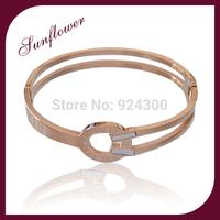 FREE SHIPPING 2014 New Fashion Rose Gold Bracelets & Bangles Fashion Jewelry Thick Punk Bracelets